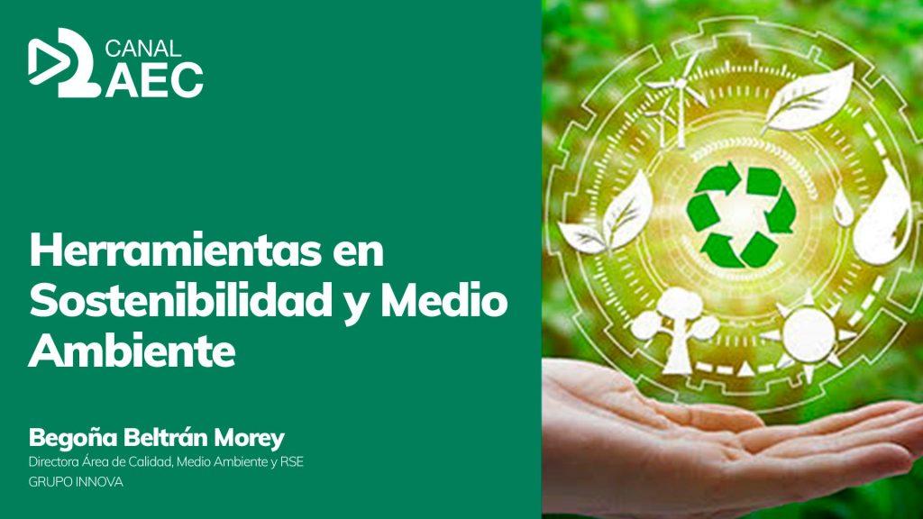 Caratula herramientas sostenibilidad y medio ambiente Canal AEC