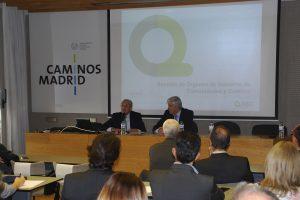 Avelino Brito y Miguel Udaondo durante la bienvenida Institucional